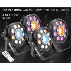 BeamZ	BX94 PAR met COB LED en strobe set