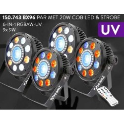 BeamZ	BX96 PAR met COB LED en strobe SET