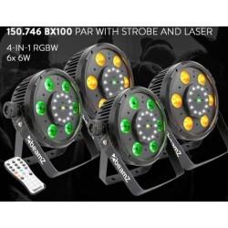 BeamZBX100 PAR met strobe en Laser RG SET