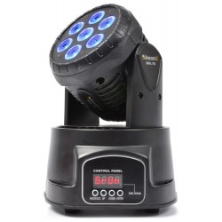 Beamz MHL-74 Mini Moving Head Wash 7X 10W DMX 13-Kanaals Quad LED
