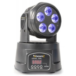 BeamZMHL90 Mini Moving Head Wash 5x 18W RGBAW-UV LEDs