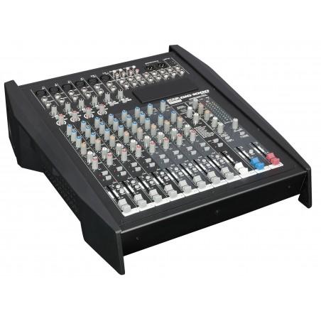 GIG 1000CFX 12 kanaals live mixer met dynamics DSP en 1000W versterker