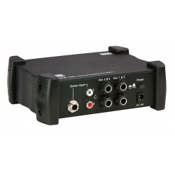 AMP-104 Koptelefoon versterker 4 kanalen