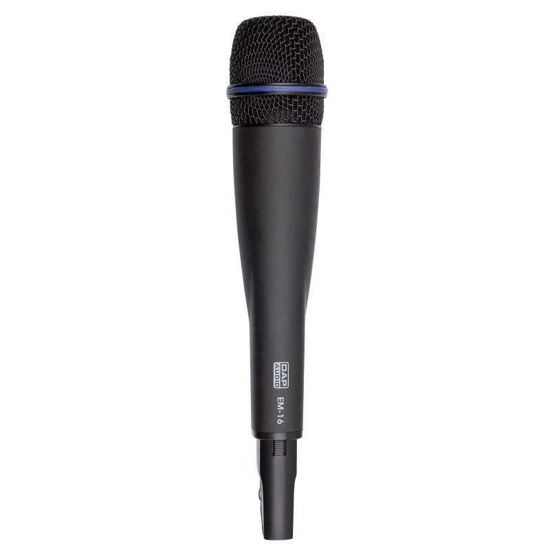 EM-16 Draadloze PLL-handmicrofoon 16 freq. 614-638MHz