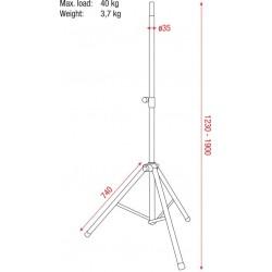 Speakerstatief Pro 38-41mm